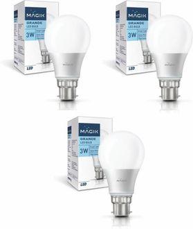 Magik 3W Globe B22 LED Bulb (White, Pack of 2) Price in India