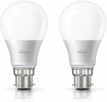 Magik 8W Round B22 LED Bulb (White, Pack of 2) Price in India