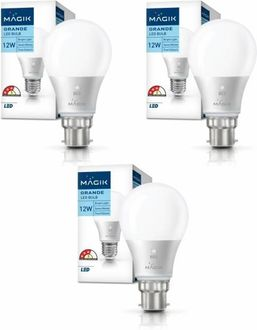Magik 12W Round B22 LED Bulb (White, Pack of 3) Price in India