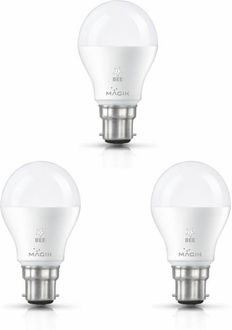 Magik 5W Round B22 LED Bulb (White, Pack of 3) Price in India