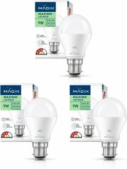 Magik 9W Round B22 LED Bulb (White, Pack of 3) Price in India