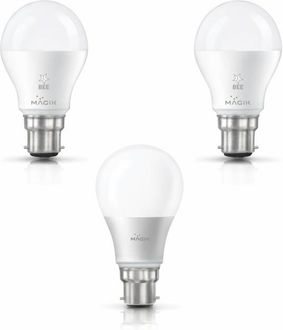 Magik 14W, 10W Round B22 LED Bulb (White, Pack of 3) Price in India
