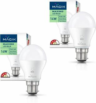 Magik 14W Round B22 LED Bulb (Yellow, Pack of 2) Price in India