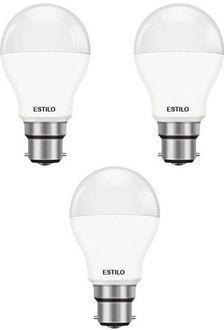 Estilo 9W Standard B22 LED Bulb (White, Pack of 3) Price in India