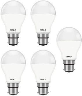 Estilo 9W Standard B22 LED Bulb (White, Pack of 5) Price in India