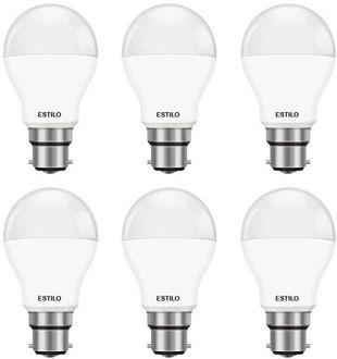 Estilo 9W Standard B22 LED Bulb (White, Pack of 6) Price in India
