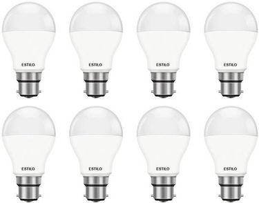 Estilo 9W Standard B22 LED Bulb (White, Pack of 8) Price in India