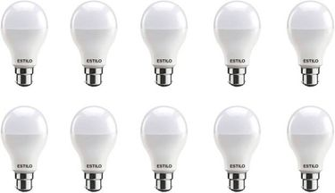 Estilo 12W Round B22 LED Bulb (White, Pack of 10) Price in India