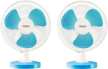 Usha Mist Air Duos 3 Blade (400mm) Table Fan (Pack of 2) Price in India