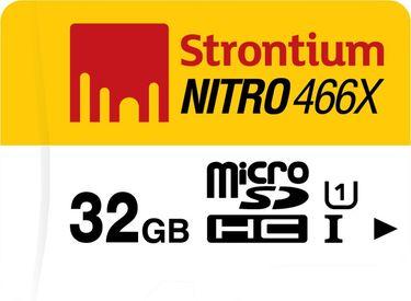 Strontium Nitro 466X 32GB MicroSDHC Class 10 (70MB/s) Memory Card Price in India