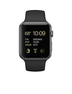 Apple Watch Sport Space Grey Aluminium Case Black Sport Band 42mm Price in India
