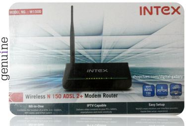 Intex W150D ADSL2 Wireless Router Price in India