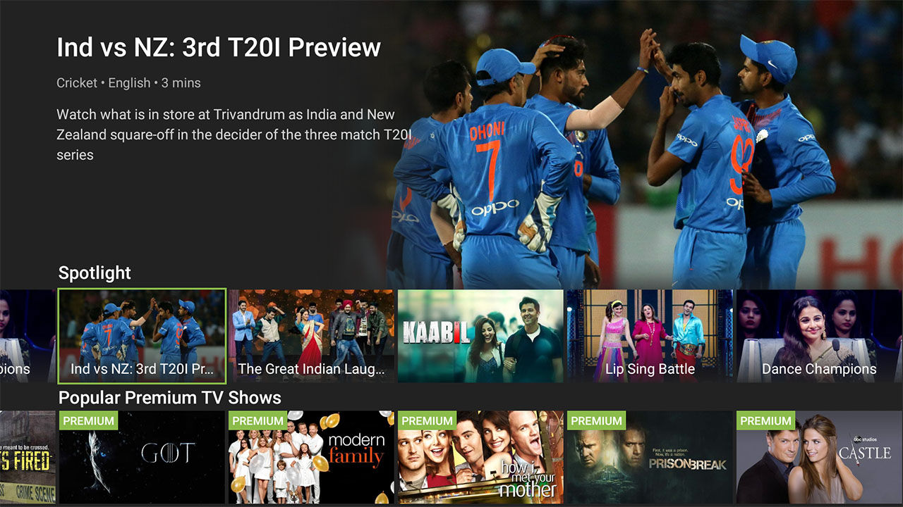 Hotstar Android TV App