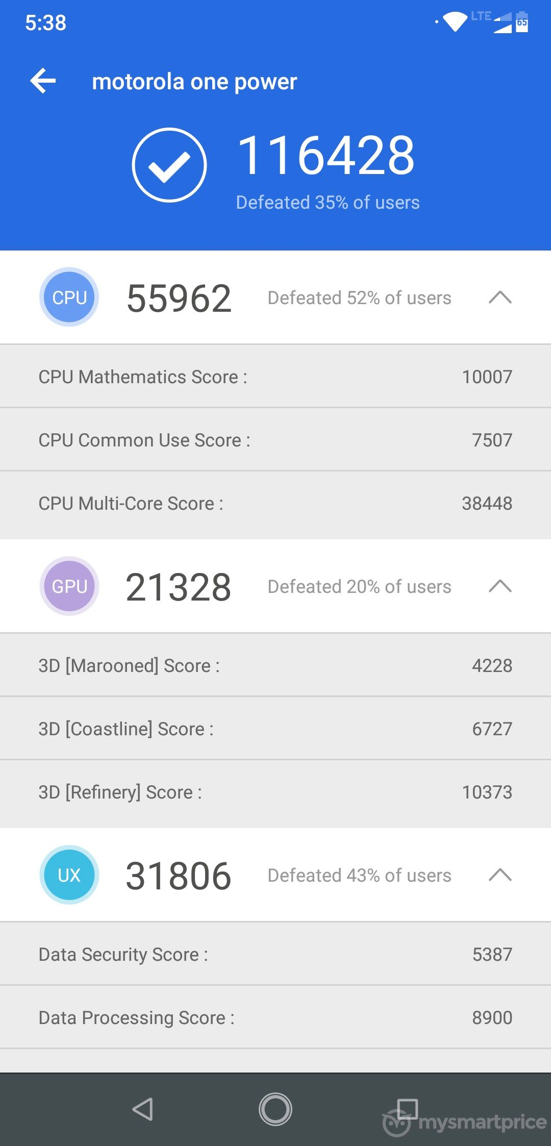 Motorola Moto One Power AnTuTu Benchmark