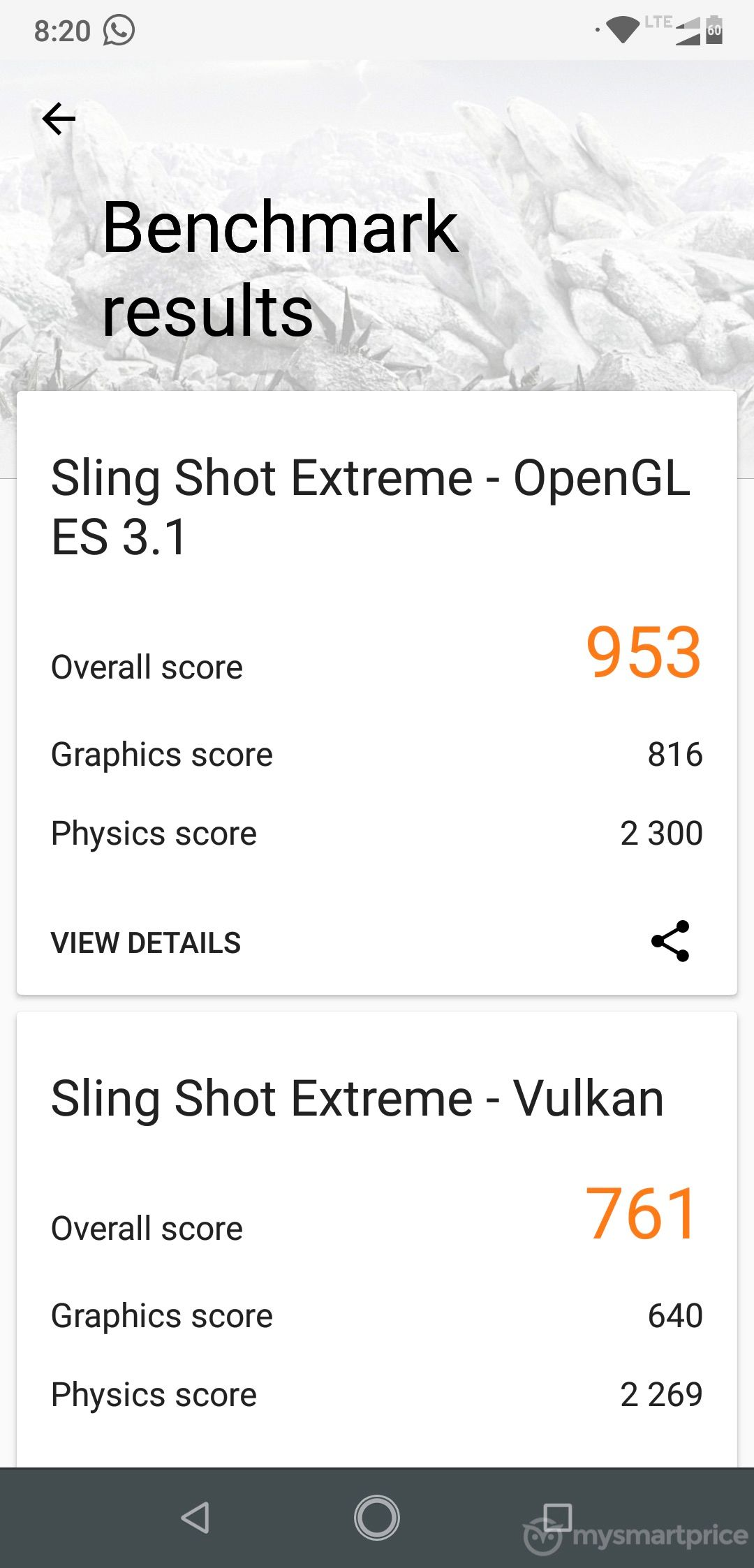 Motorola Moto One Power 3DMark - Sling Shot Extreme Benchmark
