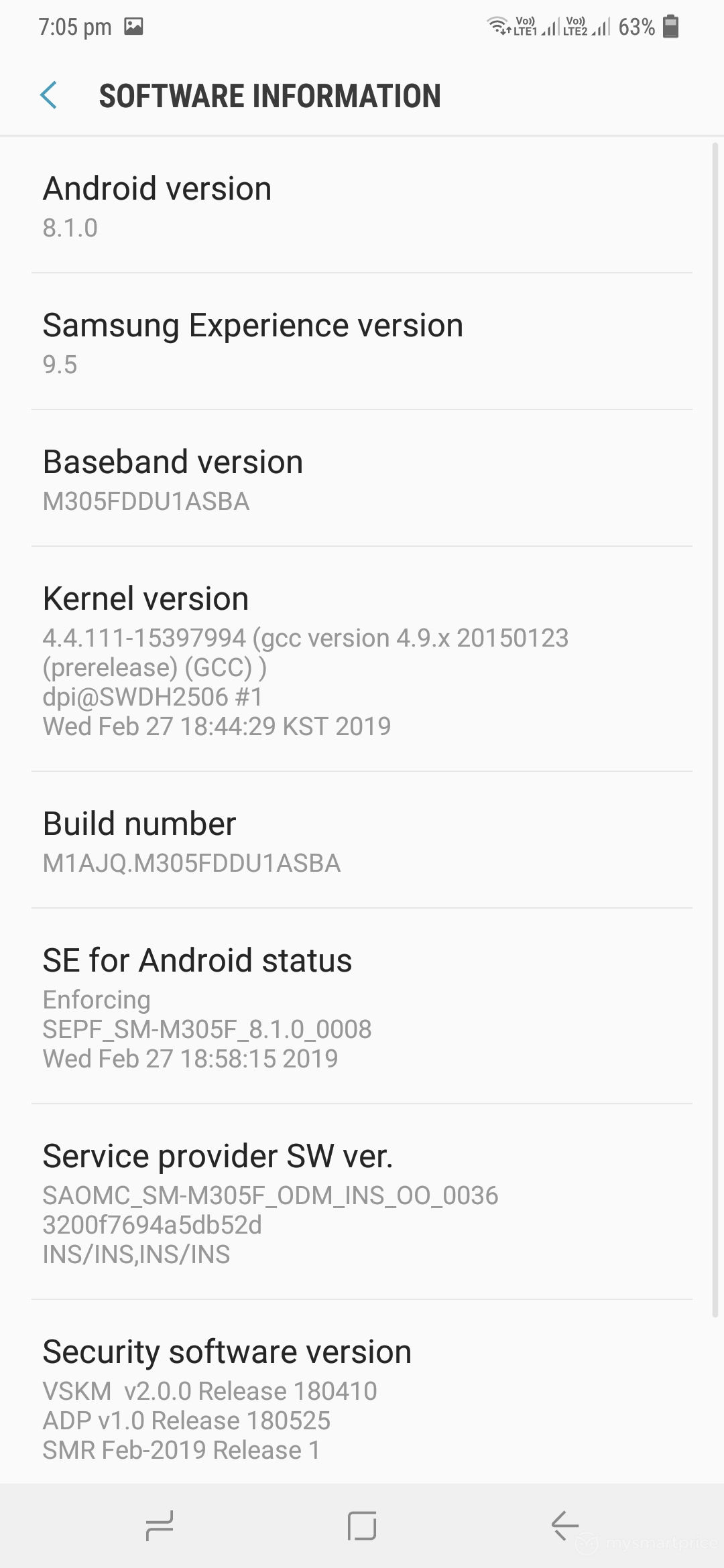 Samsung Galaxy M30 Review - UI Design 19 (Settings - About Phone)