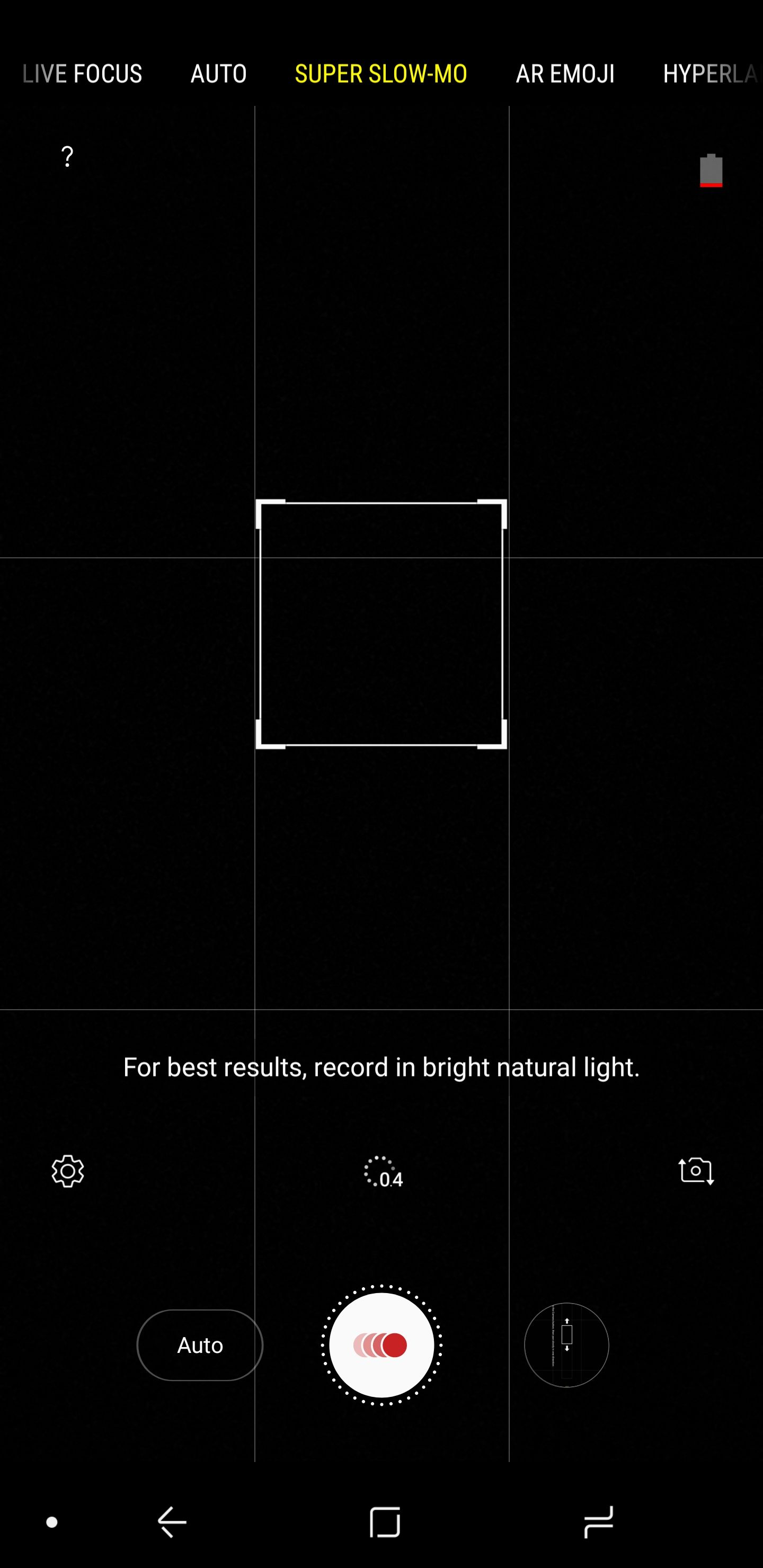 Samsung Galaxy Note 9 UI - Camera