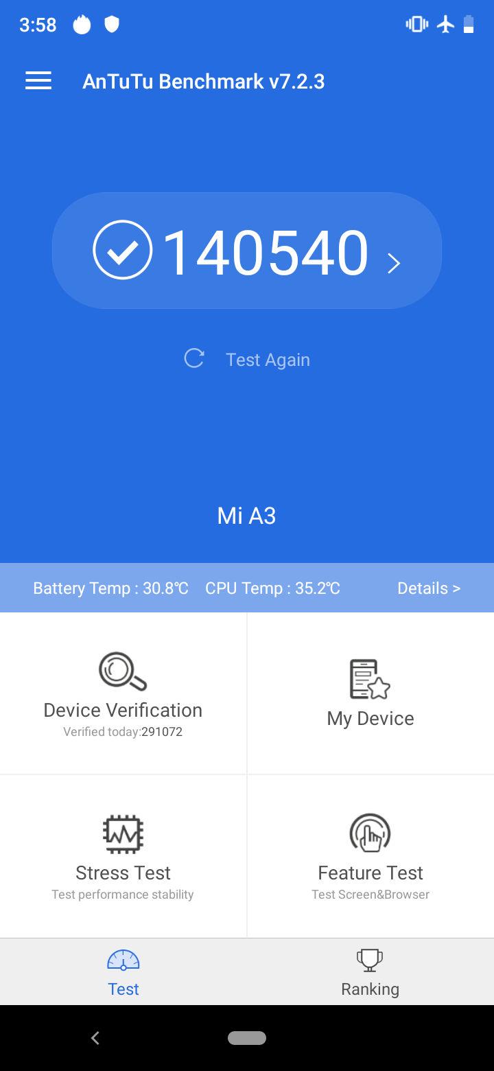 Mi A3 Benchmarks