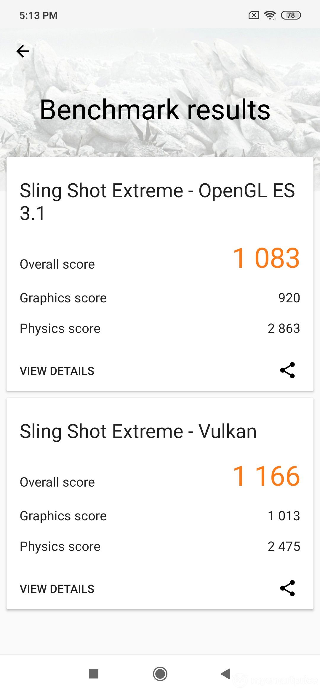 Xiaomi Redmi Note 7 Pro GPU Performance Benchmark (3D Mark, Sling Shot Extreme)