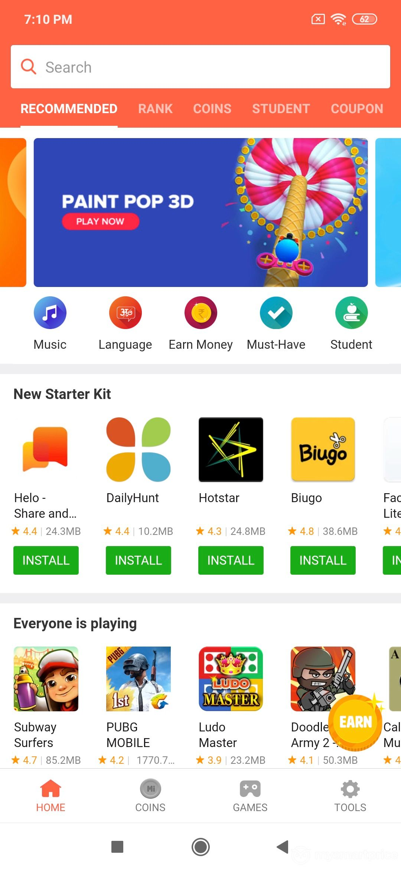 Xiaomi Redmi Note 7 Pro UI Design: App Store