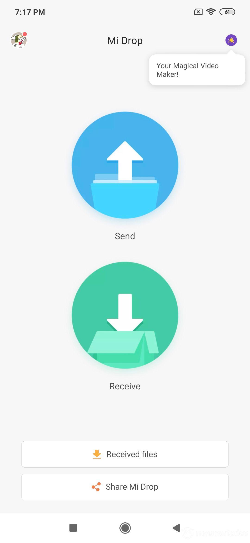 Xiaomi Redmi Note 7 Pro UI Design: Mi Drop