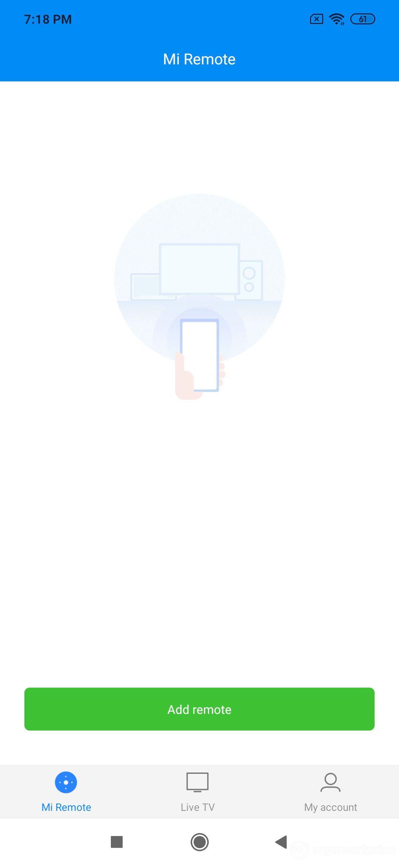 Xiaomi Redmi Note 7 Pro UI Design: Mi Remote