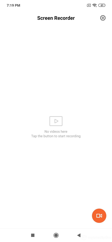 Xiaomi Redmi Note 7 Pro UI Design: Screen Recorder