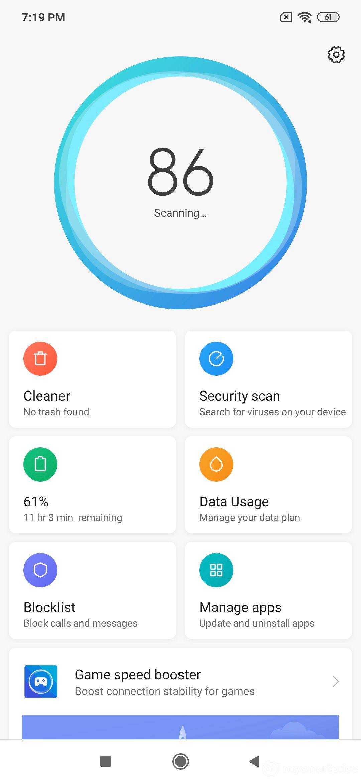 Xiaomi Redmi Note 7 Pro UI Design: Security
