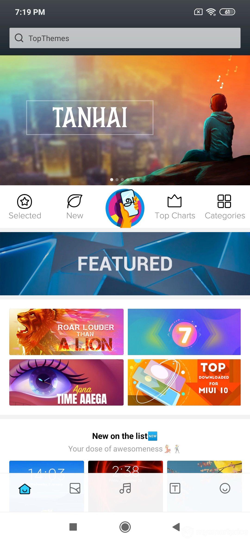 Xiaomi Redmi Note 7 Pro UI Design: Theme Store