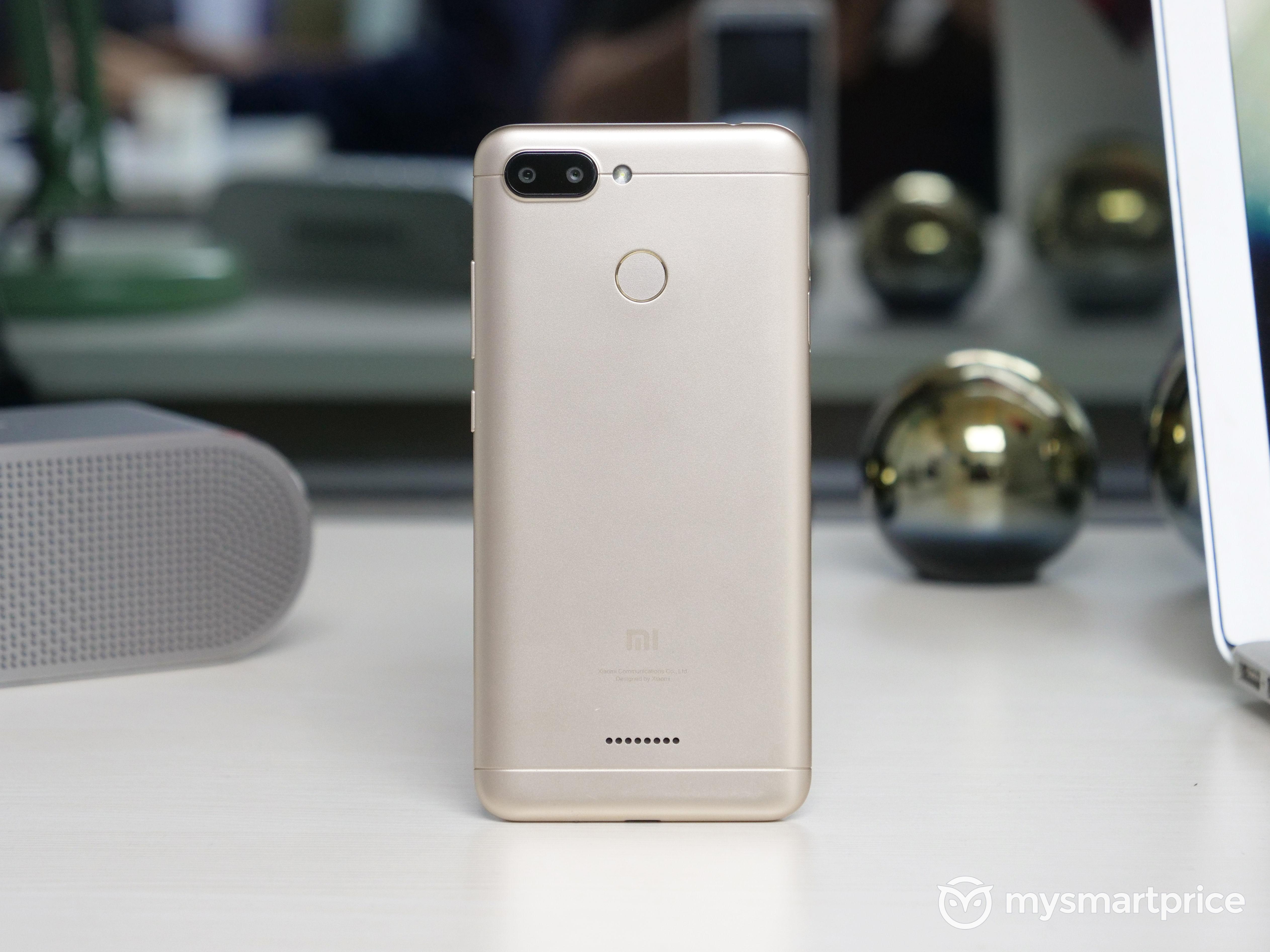 Xiaomi Redmi 6 Camera, Fingerprint Reader, Rear Design