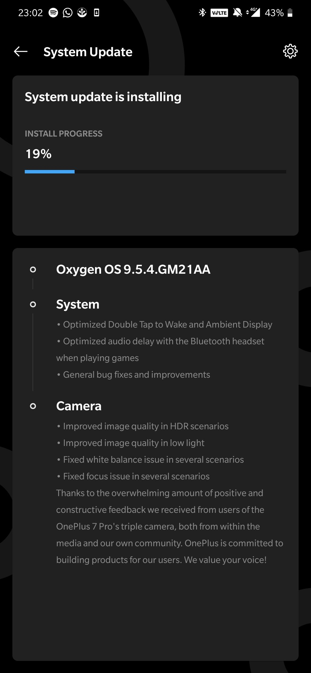 oneplus 7 review software