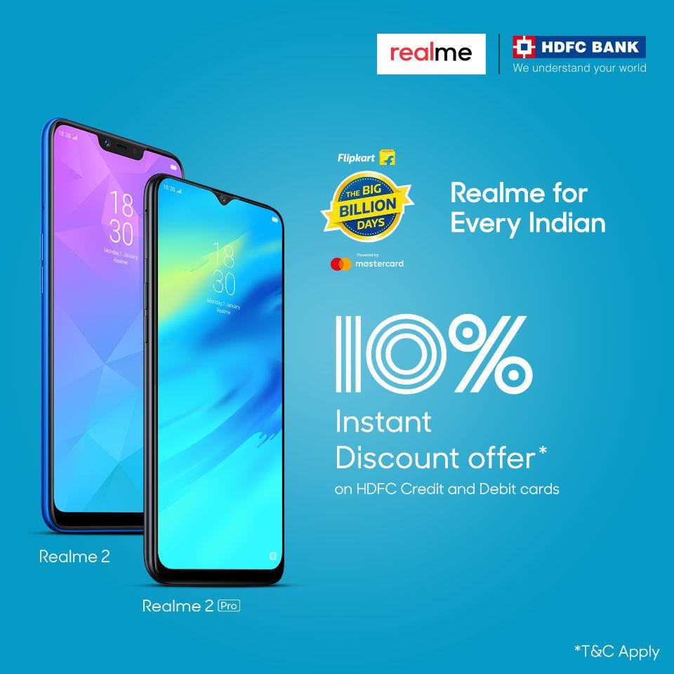 Discount on Realme 2 Pro and Realme 2