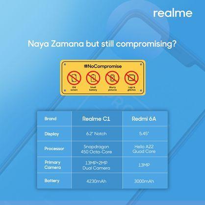 Realme C1 vs Redmi A6