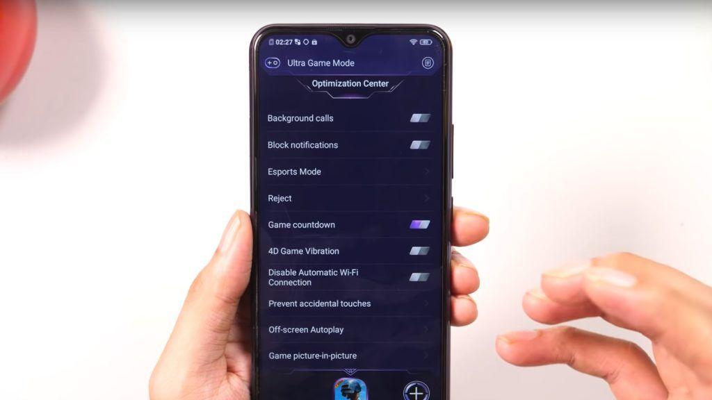 Vivo U10 Ultra Game Mode