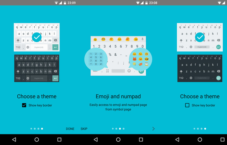 Google Keyboard v5.1 Features - Themes