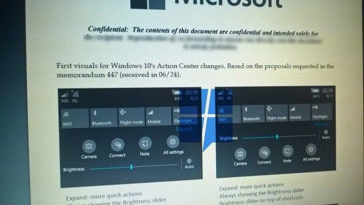 Windows 10 Mobile New Action Center