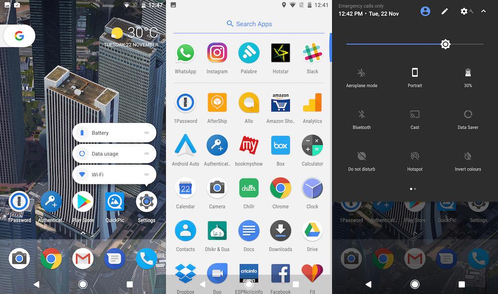 Google Pixel XL UI