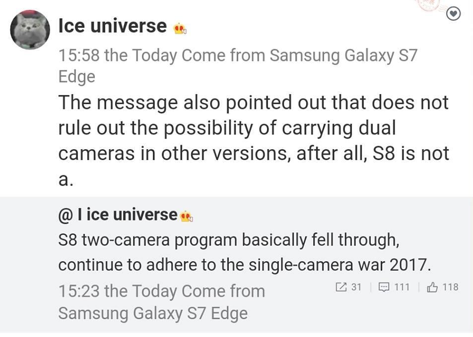 Samsung Galaxy S8 camera details