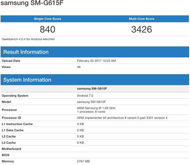 Samsun SM-G615F