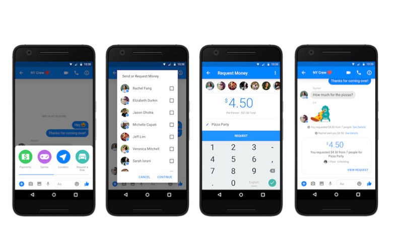 Facebook Messenger Group Payments