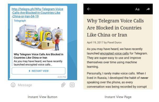 Telegram Instant View