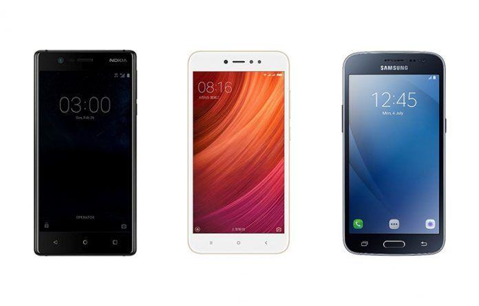 Nokia 3 vs Xiaomi Redmi Y1 vs Samsung Galaxy J2 Pro