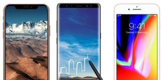 Apple iPhone X vs Samsung Galaxy Note 8 vs Apple iPhone 8 Plus- Price in India, Specifications and Features Comparison