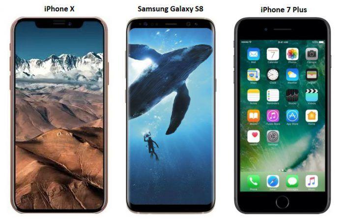 IPHONE X PLUS SAMSUNG S8 PLUS