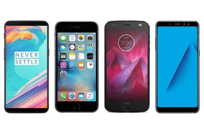 Moto Z2 Force vs OnePlus 5T vs iPhone 6s vs Samsung Galaxy