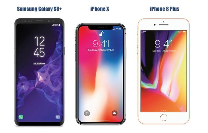 SAMSUNG S9 VS IPHONE 8 PLUS