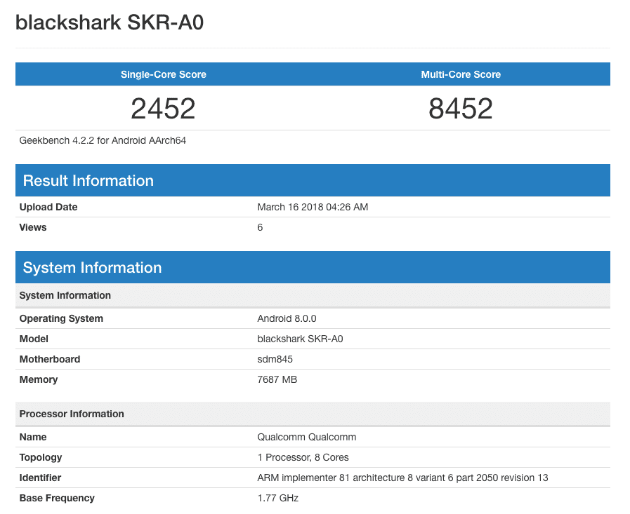 Blackshark-SKR-A0-Geekbench