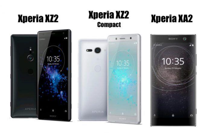 Sony Xperia XZ2 vs Sony Xperia XZ2 Compact vs Sony Xperia XA2