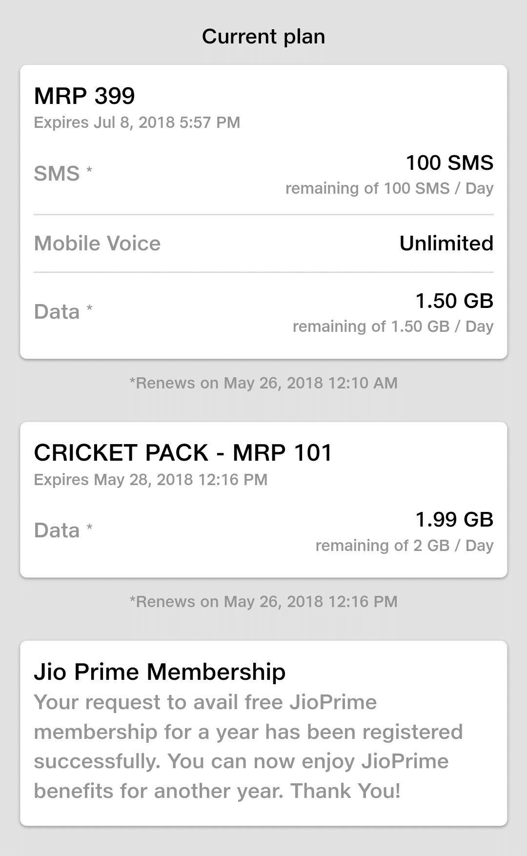 Reliance Jio Cricket Pack Offers Free 2GB Data Per Day For