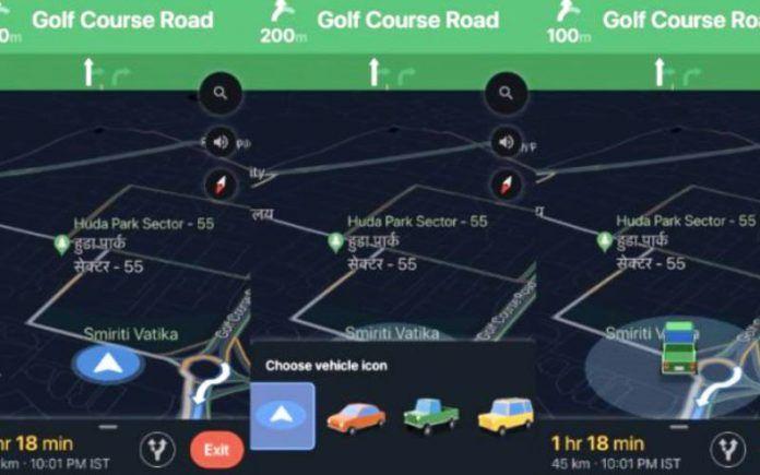 Google Maps Uber Taxi